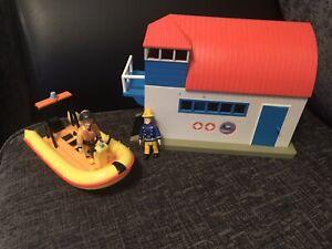 Fireman Sam Sea Rescue Playset Boathouse Neptune Boat & Figures
