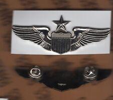 "USAF Air Force Senior Pilot Aviation wing badge 3"" Stabrite c/b dress award"