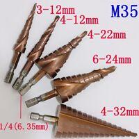 5PCS HSS-Co M35 Steel Step Cone Titanium Coated Drill Bit Hole Cutter for metal