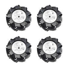 4 Stück Mecanum Omni Wheel 80 / 97mm mit 5 / 6mm Kupplung 2xLinks / 2xRechts