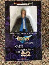 Buffy The Vampire Slayer Spike Action Figure Ikon Exclusive Blue Shirt Nib Moore