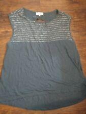 Synergy Organic Clothing Blue Embroidered size large EUC