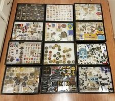 Huge lot military medals badges pins insignia patches Usa foreign coins war