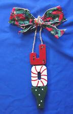 "door greeter 16"" long wall hanging art Christmas ornament JOY"