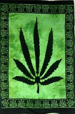 Tapestry Leave Art Wall Hanging Green Color Small Poster Marijuana Leaf Decor