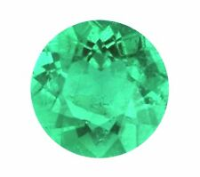 Natural Green Emerald Round Cut 1mm Gem Gemstone