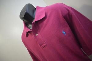 42467 Polo Ralph Lauren Classic Purple Short Sleeve Golf Polo Shirt XLT TALL