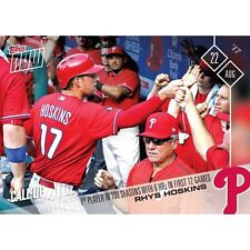 2017 TOPPS NOW #508 RHYS HOSKINS 7TH PLAYER IN 100 SEASONS 6 HRs FIRST 12 GAMES