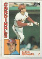 FREE SHIPPING-MINT-1984 Topps #152 Glenn Brummer Cardinals PLUS BONUS CARDS