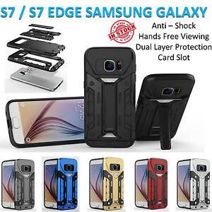 Samsung S7 Case S7 Edge Cover Hard Armor Kickstand Shockproof Card Holder