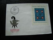 SUISSE - enveloppe 1er jour 13/6/1971 (yt bloc n° 21) (cy25) switzerland