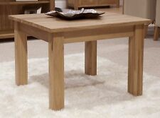 Nero solid oak furniture small square coffee table with felt pads