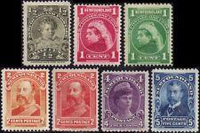 Newfoundland - Canada 1897 Definatives Victoria (1840-1901) sg83--90 mint hinged