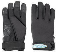 Aquaskinz Black Thunder Fishing Gloves Size MEDIUM