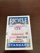Corner Short Deck, Single Cut - Magic Card Trick - Bicycle Blue  - Index