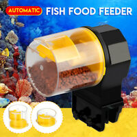 🔥Automatic Fish  Feeder Feeding Timing Pet Aquarium Tank Pond w/2   P Q