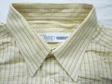 E7949 Olymp Tendenz Businesshemd Kombimanschette 41 gelb, weiß, orange, braun