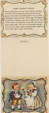 VINTAGE SWEDISH BAKER COOK CHEF LEMON CARAWAY COOKIES RECIPE PRINT 1 GRAPES CARD