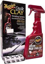 Meguiars Quick Clay Starter Kit, 473ml Quik Detailer & 80g Clay Bar