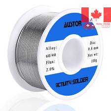 AUSTOR Tin Lead Rosin Core Solder Wire 100g 0 8mm