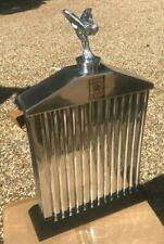 Rolls Royce spirit Of ecstasy Mascot And Front Grill, not an original item,