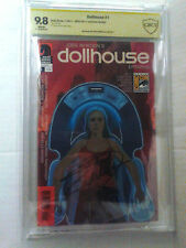 Dollhouse Epitaphs #1 Sdcc 2011 Variant Signed Eliza Dushku Cbcs Ss 9.8 Like Cgc