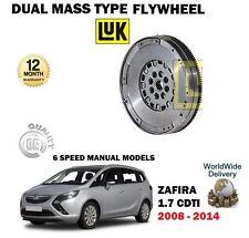 per Vauxhall Opel Zafira 1.7 CDTI 2008-2014 NUOVO DOPPIO massa volano 6 Velocità