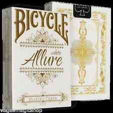 Allure White by TPX Deck Bicycle Playing Cards Poker Size USPCC Limited Edition