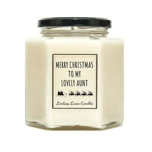 Christmas Gift For Aunt, Candle, Scented Candle, Christmas Candle, Candles