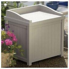 Outdoor Bench Box Seat Storage Cabinet Furniture Yard Patio Garden Deck Pool