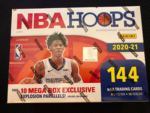 Panini NBA Hoops Mega Box 2020-21 New Factory Sealed SHIPS FAST ZION LAMELO JA