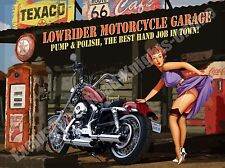 Lowrider Motorcycle Garage Funny Crusier Motorbike Chopper Novelty Fridge Magnet