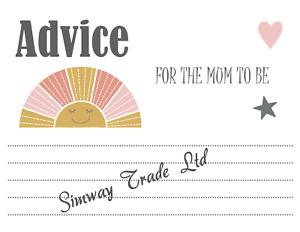 Baby Shower Games Baby Girl Boy Cards Baby Bingo Quiz Unisex