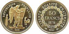 IIIe République, essai 50 fr or 1878, Soc.té Française Monnaies, COPY, FDC -30