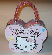 Hello Kitty Tin Box Purse Beaded Handle The Tin Box Co. Sanrio Co. 2009