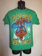 New Marvel Spiderman Yo Lo Hago Ver Facil Youth Large L (14-16) Green Shirt