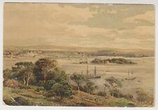 Devon postcard - Plymouth from Mount Edgecombe - Artist