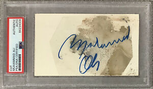 Muhammad Ali Signed Cut Vintage Full Sig Autograph Greatest Boxing Champ PSA/DNA
