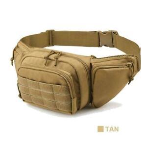 Tan Tactical Molle Waist Bags Diagonal Bag Tool Storage Bag Portable Pockets