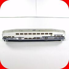N Scale BOMBARDIER METROLINK Passenger Coach Car #187 - ATHEARN *Weathered *RARE