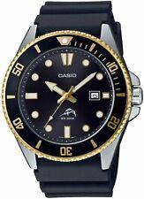 Casio MDV-106G-1AV Original 200M Duro Analogico Hombre Reloj Negro MDV-106