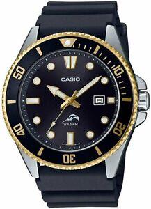 Casio MDV-106G-1AV New Original 200M Duro Analog Mens Watch Black MDV-106 MDV106