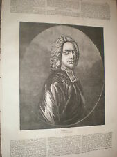 Dr Isaac Watts 1871 old print and article