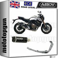 ARROW FULL SYSTEM EXHAUST NOCAT HOM THUNDER CC BLACK HONDA CB 650 R 2019 19