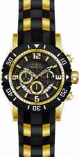 Invicta Men's Pro Diver Quartz Chronograph Black Dial Watch 23702