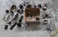 Oldtimer Youngtimer Konvolut - Elektrik Teile - Schalter , Stecker , Kabel /S214