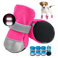 4pcs Pet Dog Shoes Cute Warm Non-slip Reflective Boots for Small Medium Dog S-XL