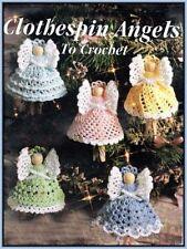 Crochet pattern - Christmas Clothespeg Angel tree decoration