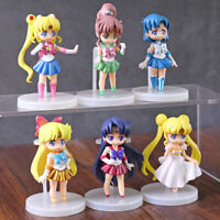 Sailor moon Mizuno Ami Kino Makoto 6pcs set of toys action figure for girl gift