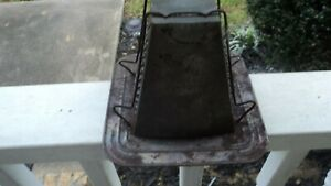 Vintage Primitive Antique Tin 4 Slice Bread Toaster Open Flame Camping Stove